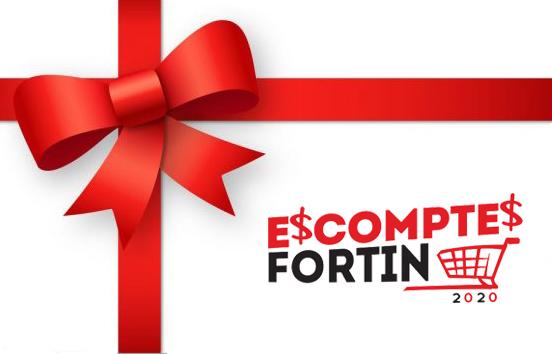 Carte cadeau ESCOMPTES FORTIN 2020
